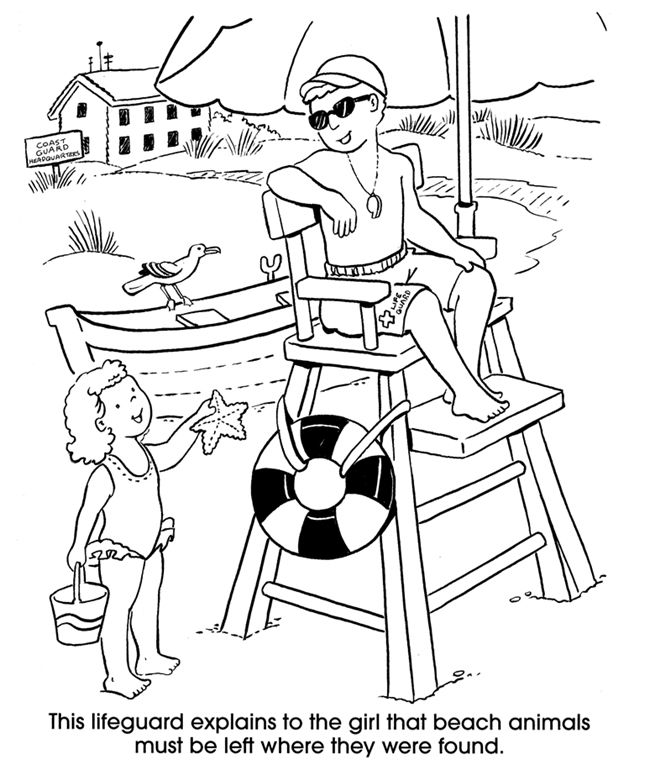 Welcome To Dover Publications At The Beach People Coloring Pages