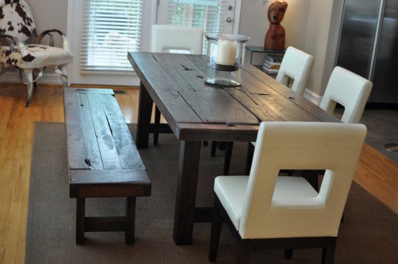 For When We Finally Make Our Table Reclaimed Wood Dining Table Eclectic Dining Tables Rustic Kitchen Tables
