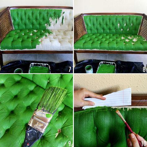 Comment Relooker Un Ameublement Un Tissu Peindre Meuble En Tissu Finition De Meubles Meubles Surcycles