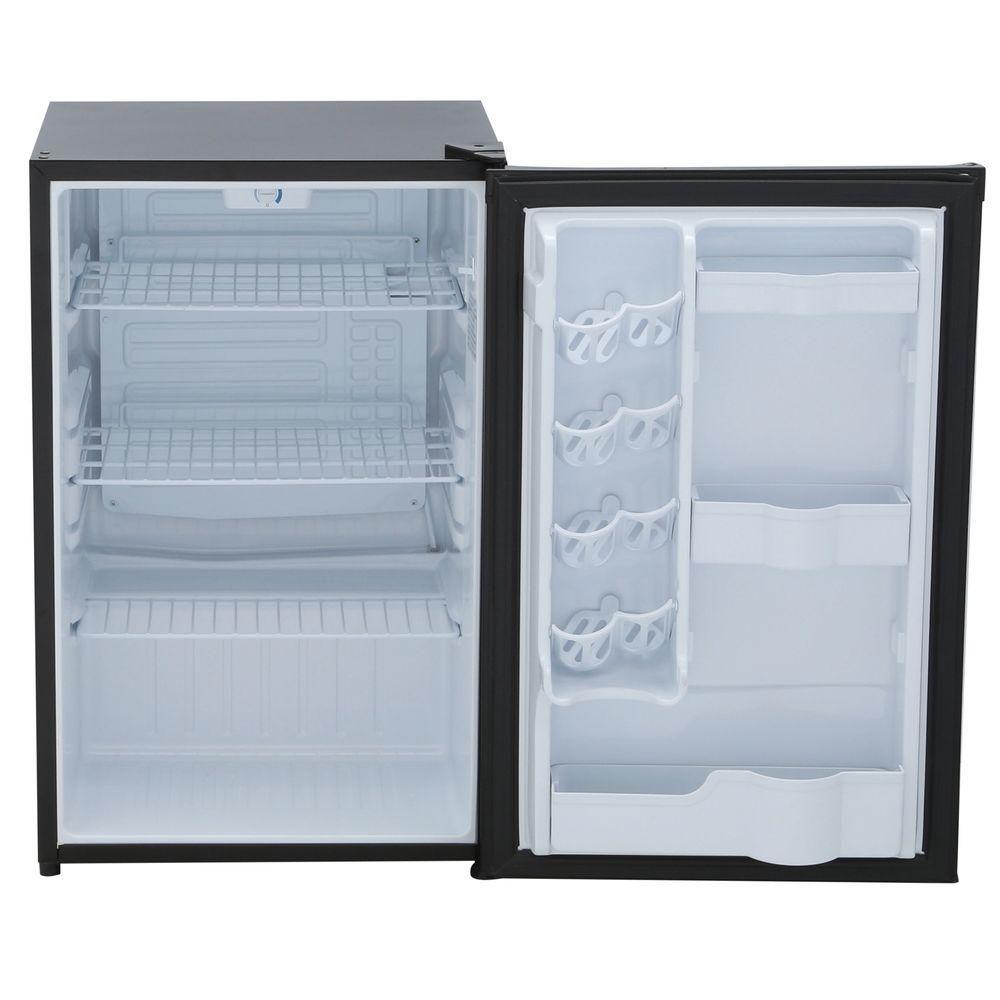 Danby 4 4 Cu Ft Mini Refrigerator In Black Without Freezer Dar044a4bdd 6 The Home Depot In 2020 Black Fridges Danby Fridge Appliances
