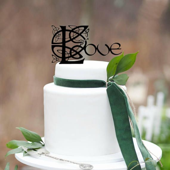 Celtic Love Wedding Cake Topper, Love Cake Topper, Celtic Wedding ...