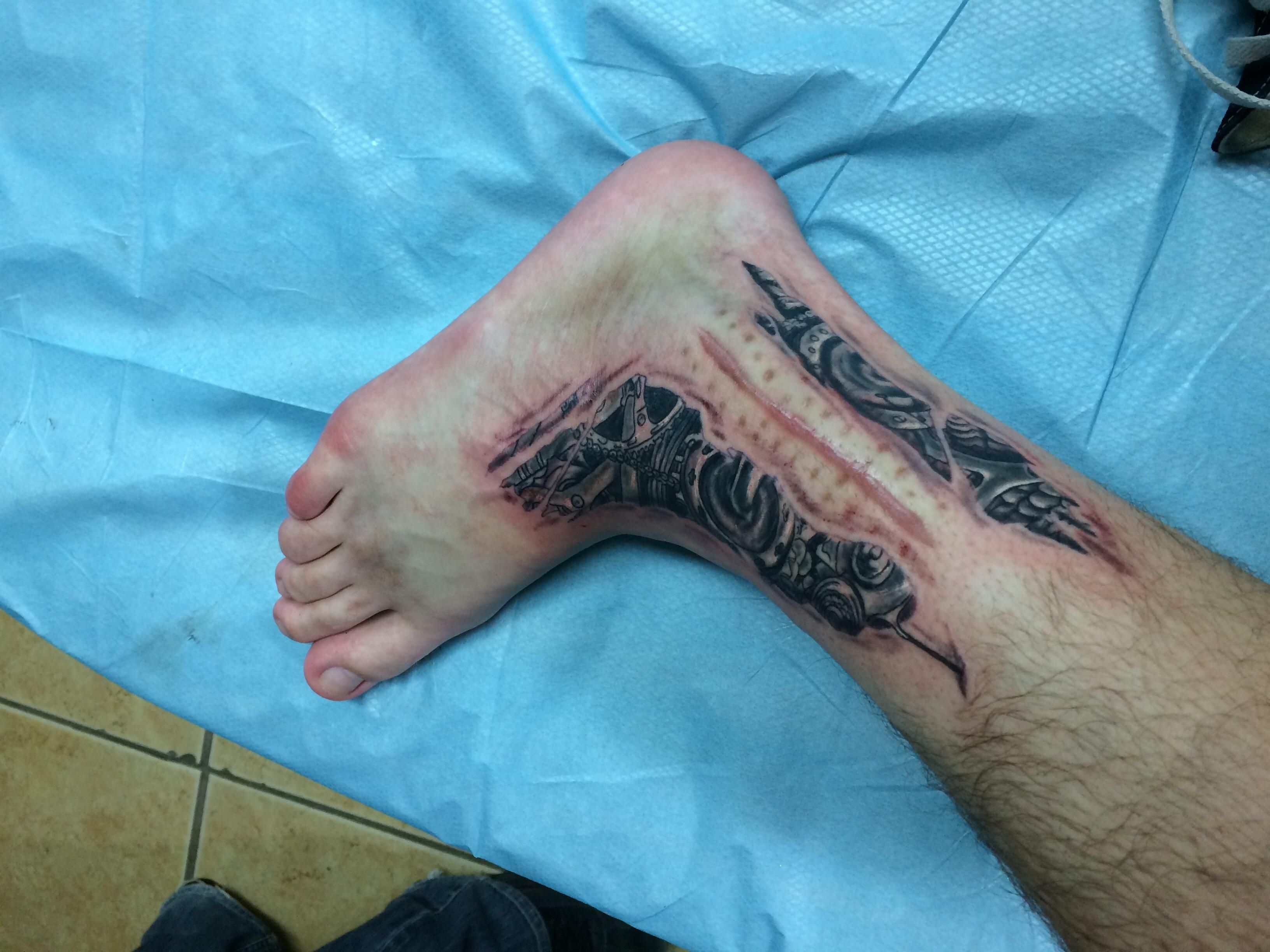 Tattoo I Got Done Around My Scar From Ankle Surgery Done By Joshua Kunkel At Ikonic Inc State College Pa Scar Tattoo Tattoo Over Scar Tattoos