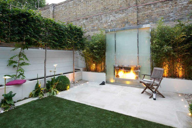 Terrassen Ideen Bilder terrassen ideen ein kamin aus glas draußen