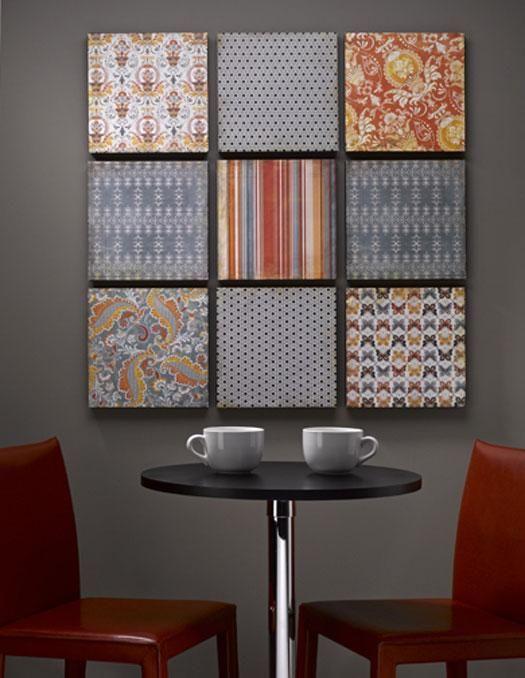 DIY Wall Art:Paper, Styrofoam, Canvas, Fabric, Ribbon? Cute!   wall ...