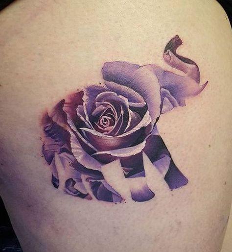 12 Gorgeous Flower Tattoo Designs 10 Unique Rose Tattoo Design Tattoos Tattoos Elephant Tattoo Small Elephant Tattoos