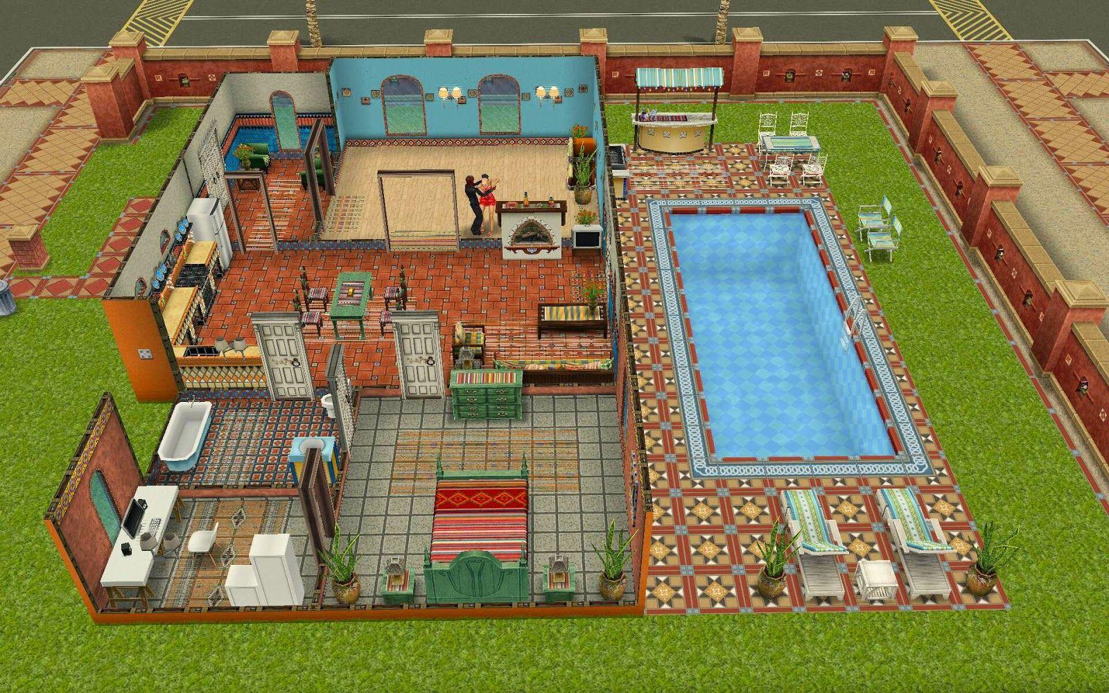 Sims Freeplay Housing Latin Villa Sims Freeplay Homes Pinterest