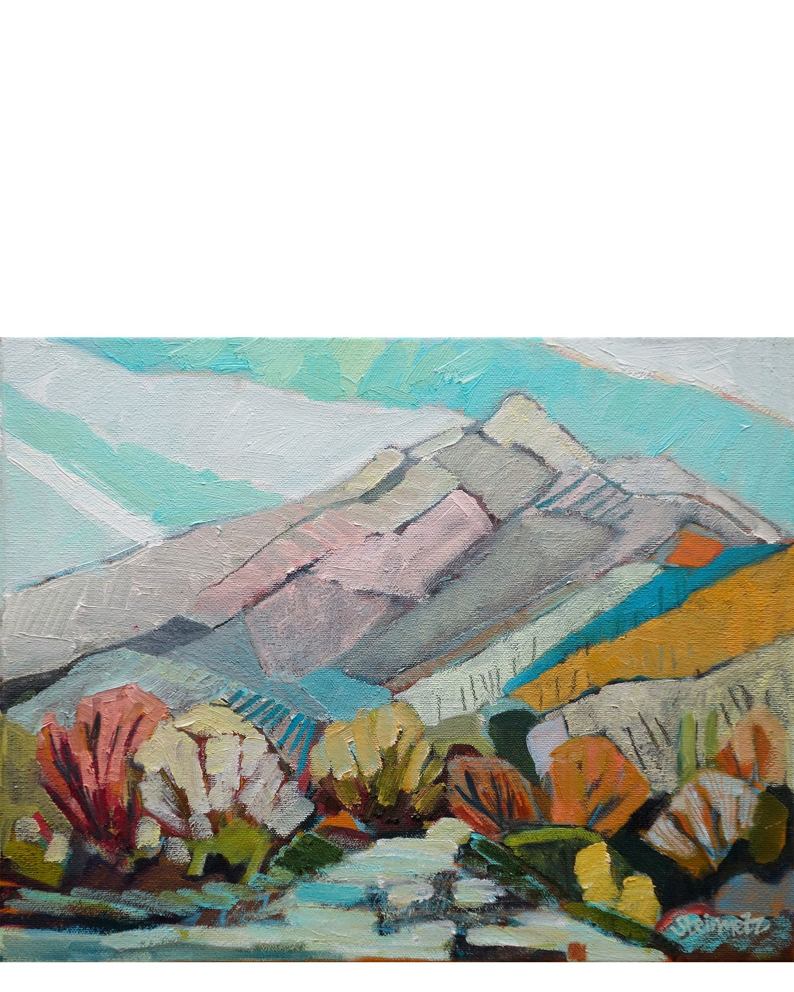 Photo of Oil on canvas.  14″ x 11″  Origin: San Francisco, California  Condition: New.  P…