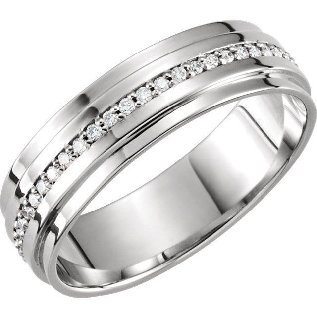 14kt White 1 3 Ctw Diamond Band Size 11 Mens Diamond Wedding Bands Mens Diamond Wedding Diamond Wedding Bands