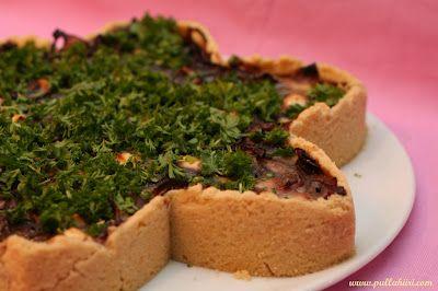 Pullahiiren leivontanurkka: Feta-punasipulipiirakka