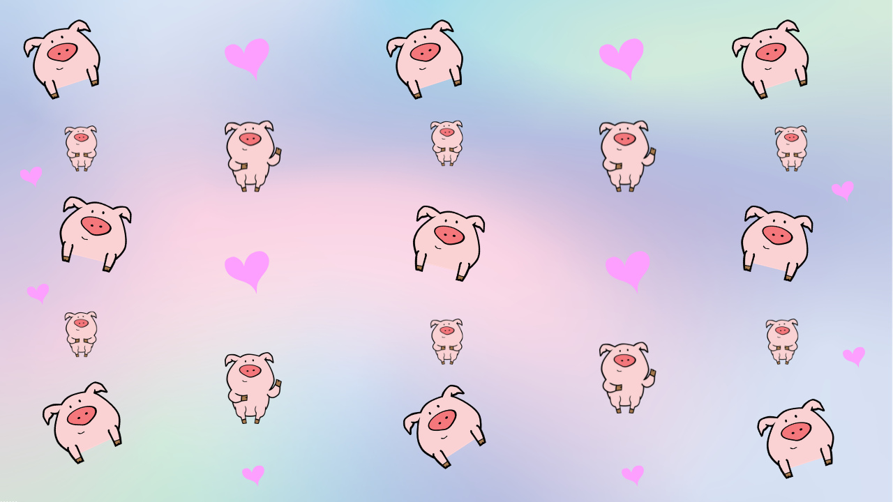 Free Zoom Backgrounds Pigs And Hearts Background Fun Pig
