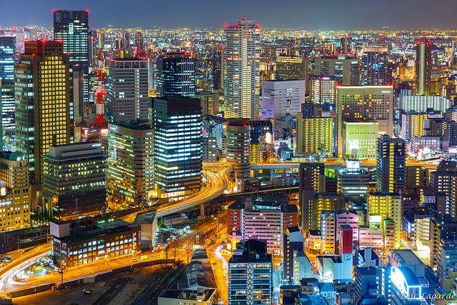 Osaka Umeda Skyline by night