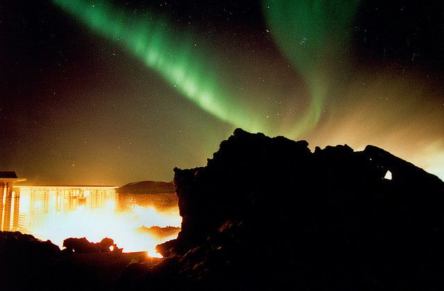 Northern Lights At The Blue Lagoon Iceland Northern