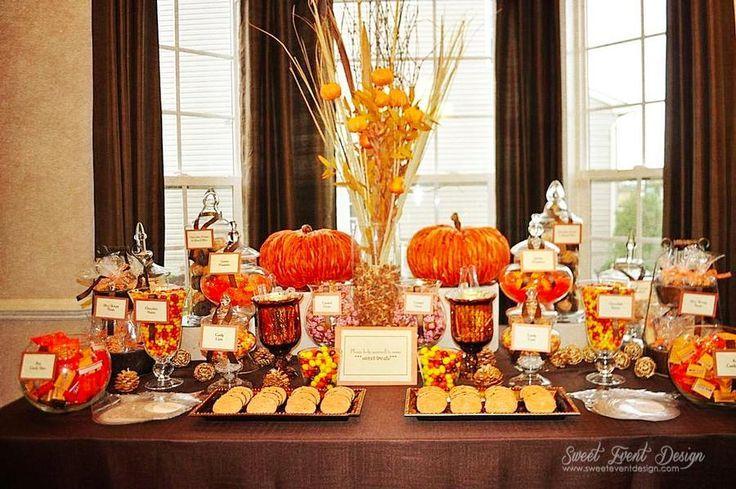 Buffet Table Ideas Wedding Reception: Fall Themed Candy Buffet