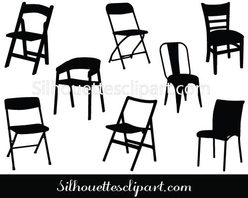 Chair Vector Graphics Download Chair Vector Silhouette Graphic