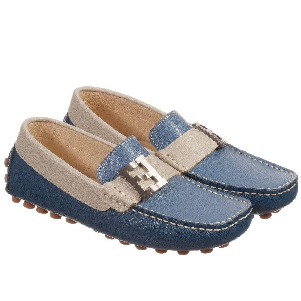 4c4f2d18d Boys Blue   Ivory Fancy Loafers