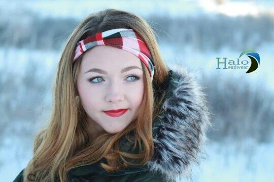 Red and Black Check - $17.95 at www.haloheadwear.com Handmade in Canada