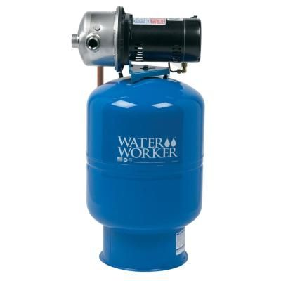 Water Worker City Water Pressure Booster System With 14 Gal Well Tank 1 2 Hp Pump And Digital Pressure Control Wwpb10 The Home Depot Well Tank Water Storage Tanks Water Pressure Pump