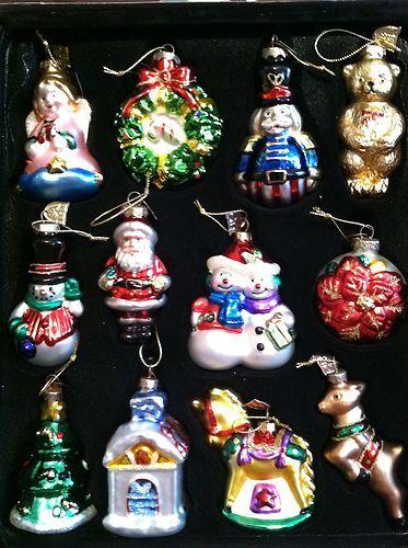 Thomas Pacconi Classics Christmas Ornaments 24 piece set - hand blown glass  | eBay - Thomas Pacconi Classics Christmas Ornaments 24 Piece Set - Hand