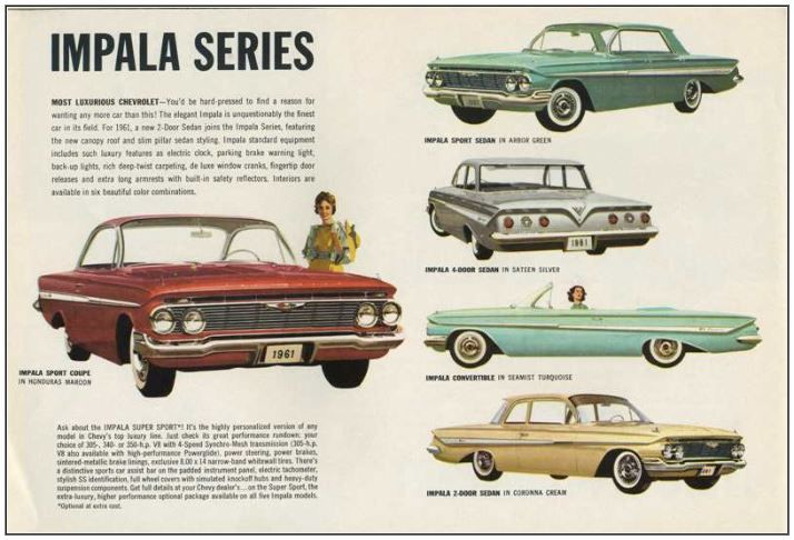From 1961 Chevrolet Dealer Album Chevrolet Antique Cars For