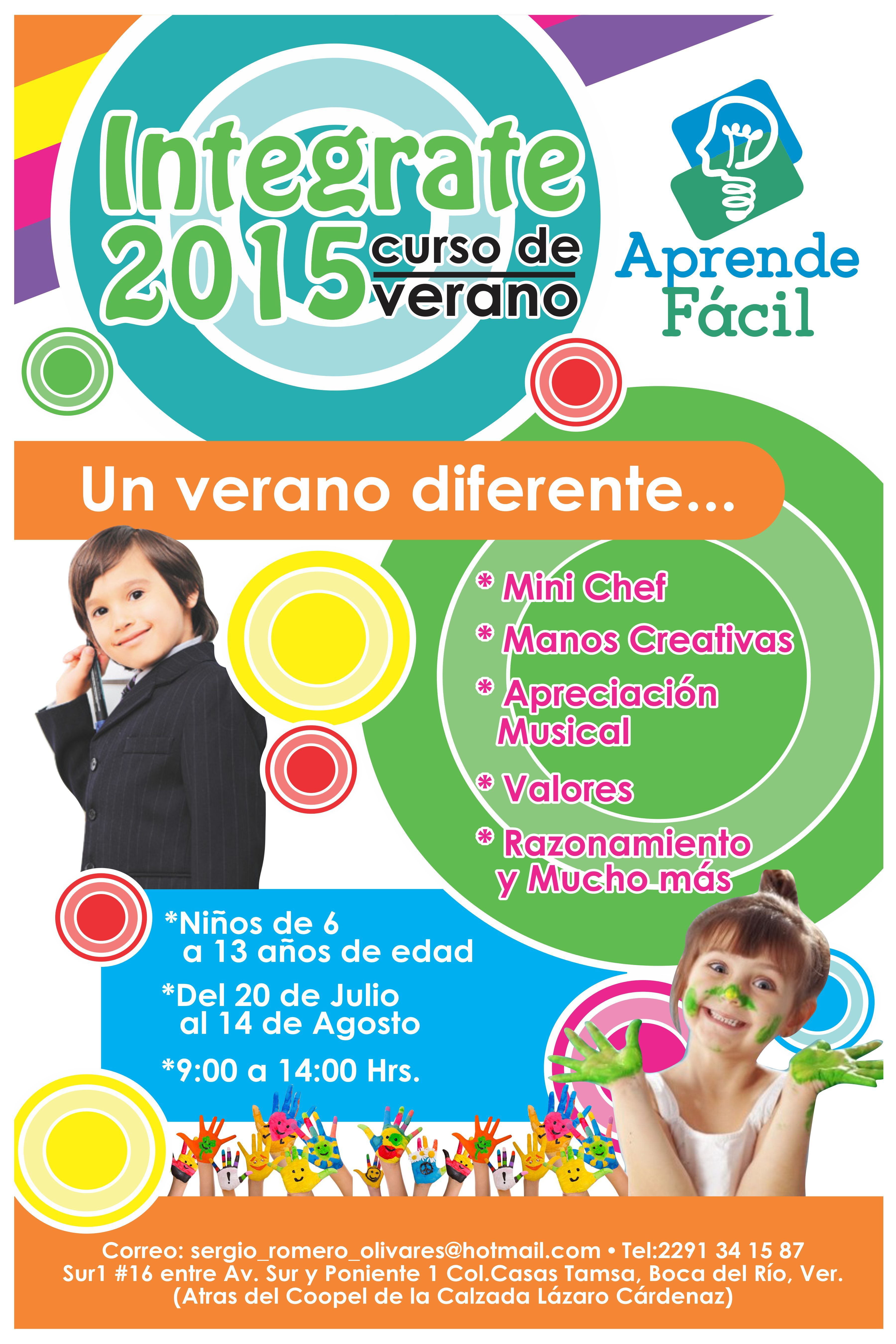 Curso De Verano Integrate 2015 Boca Del Rio Veracruz Un Verano Diferente Mini Chef Manos Creativas Ap Curso De Verano Club De Tareas Campamento De Verano