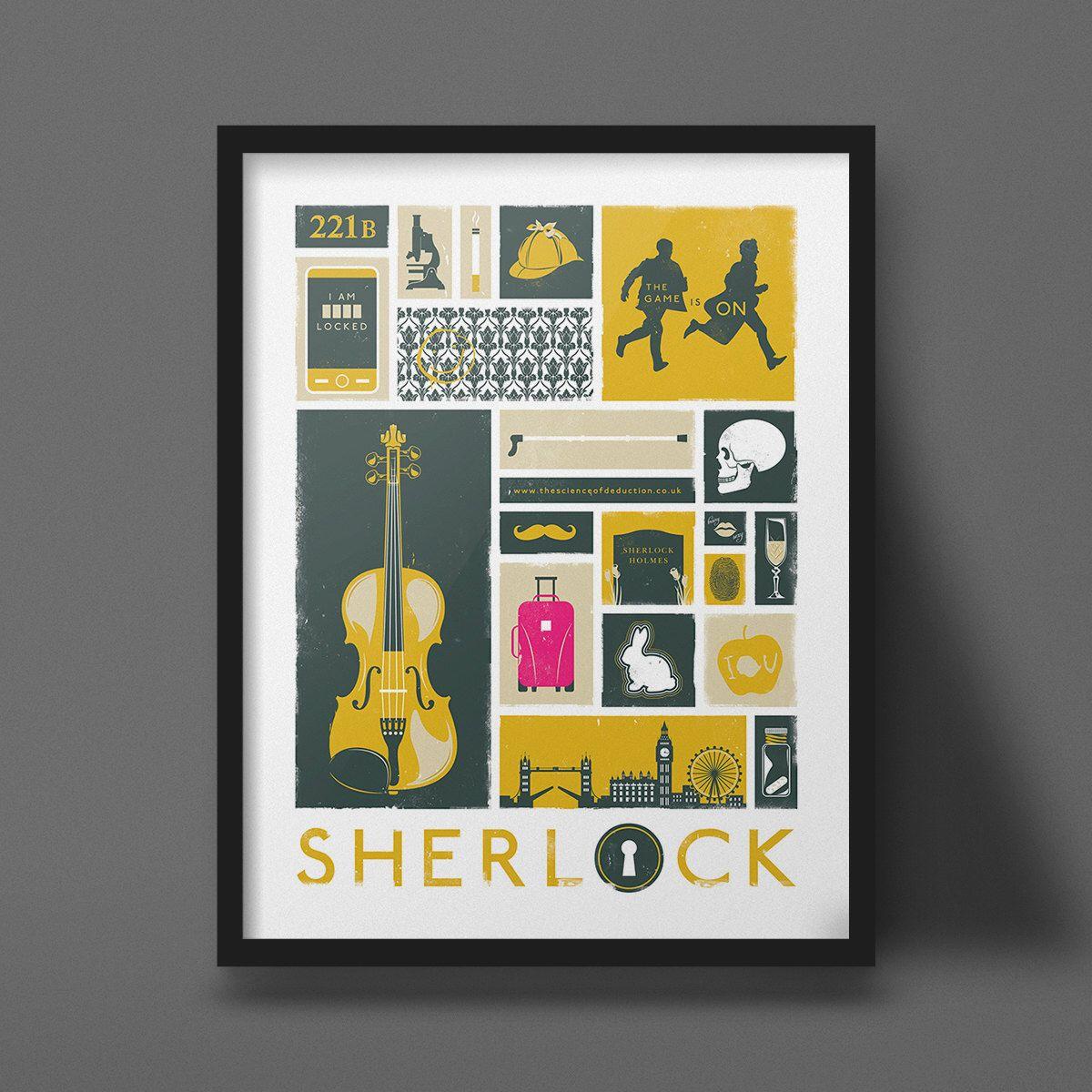Sherlock Poster Art Modern Design Print by
