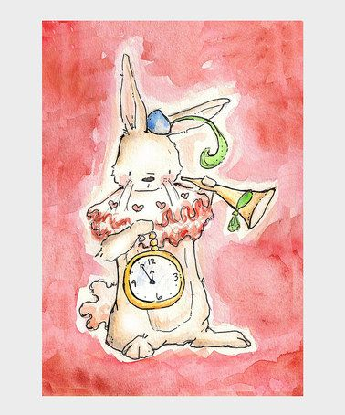 Take a look at this The White Rabbit Print by LoxlyHollow on #zulily today!