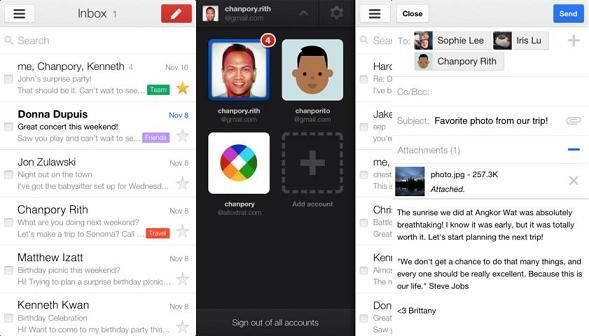 Gmail Application For Ios Updated, Adds New Swipe And