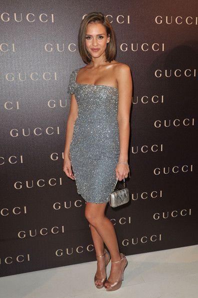 f351da593010 Jessica Alba Platform Pumps Jessica Alba was the picture of femininity at  the Gucci In-