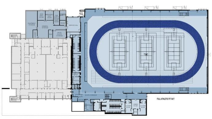 Indoor basketball gym src arena event center for Basketball gym floor plan