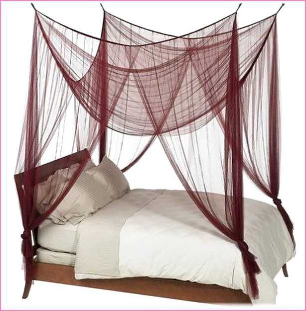 Four Poster Bed Canopy Ideas diy-four-poster-bed-canopy (614×625) | canopy bed | pinterest