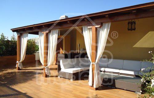 Techo De Madera Para Garaje Economico Buscar Con Google Pallet Outdoor Pergola Roof Garden
