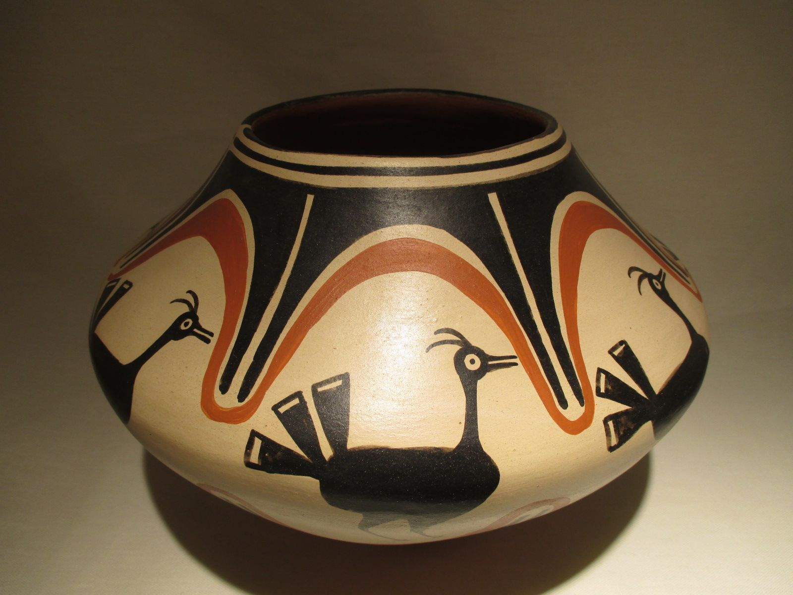 Acoma Pottery - Hand Crafted Sun Pot by Native American Artists E ...