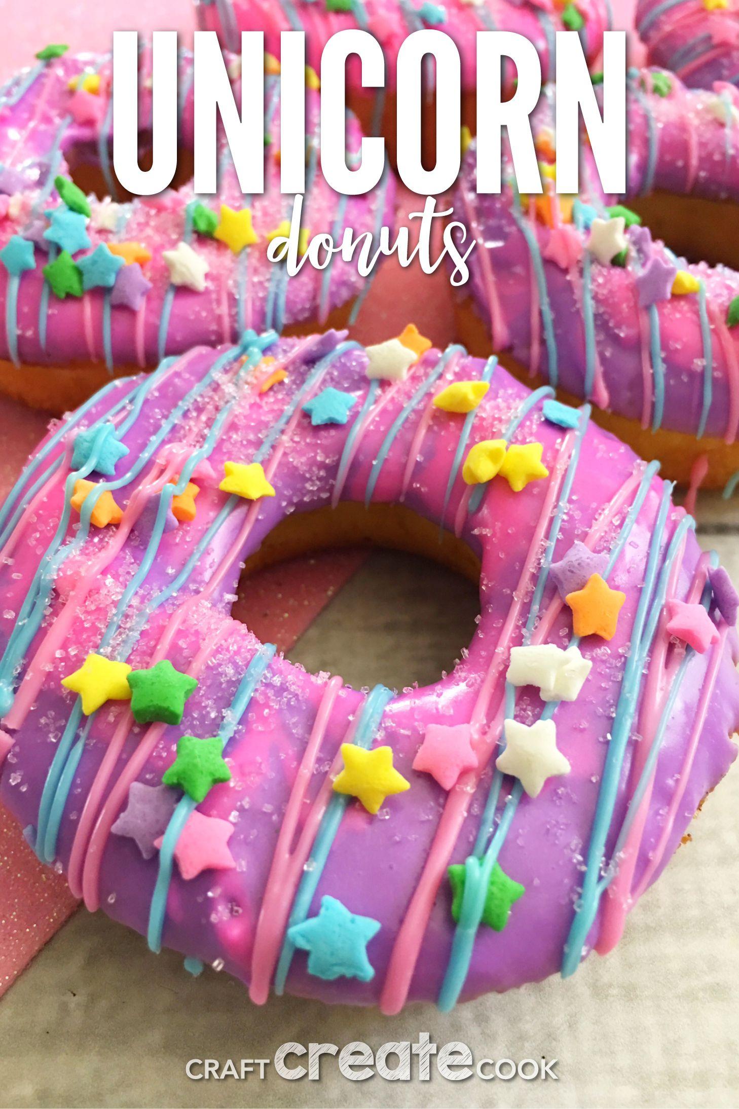 Colorful Unicorn Cake Donuts Recipe Savoury Cake