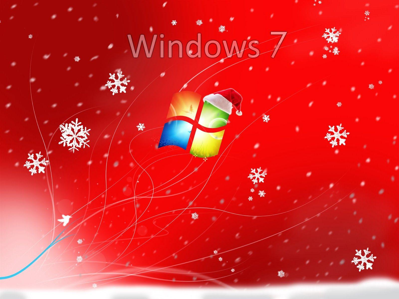 Hd Wallpapers Windows 7 Wallpaper Red Christmas Wallpaper Animated Christmas Wallpaper Christmas Screen Savers