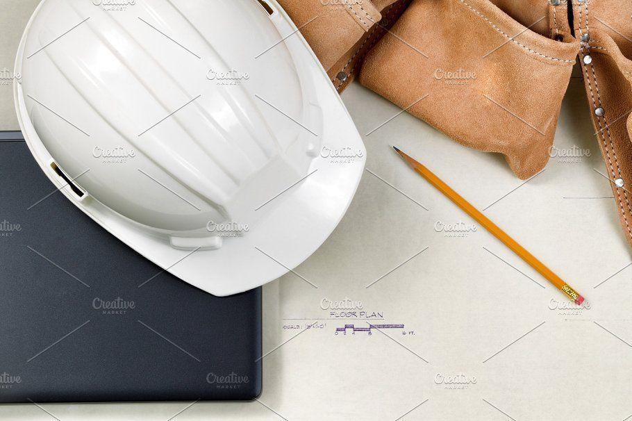 Technology On The Job Site Technology Construction Contractors Creative Market