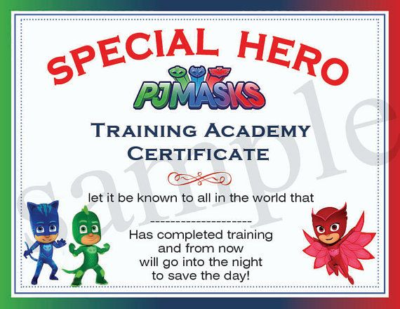 Marvelous INSTANT DL  Pj Masks Certificate   Pj Masks Birthday Party  Printable (not  Personalized)