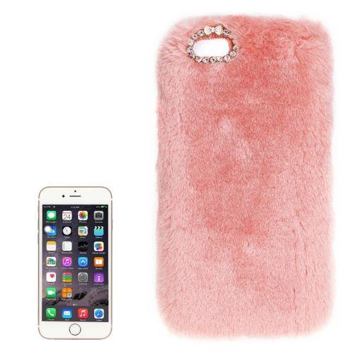 [USD3.36] [EUR3.04] [GBP2.41] Faux Fur PC Protective Case for iPhone 6 Plus & 6s Plus(Pink)