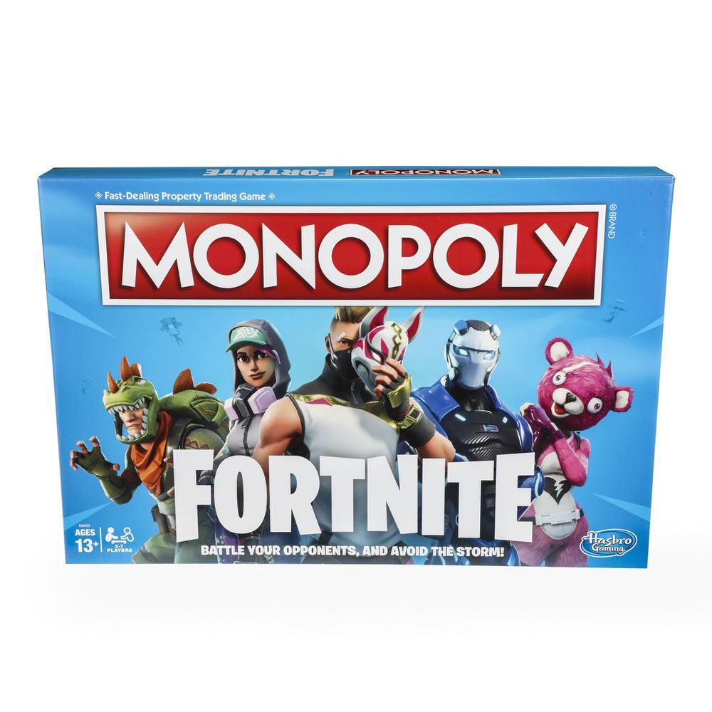 Monopoly Fortnite Edition Board Game Inspired By Video Gb Stroller Majik Blue Ages 13 An Fortnitestuff