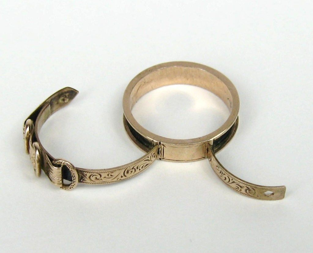 Rare Gold Victorian Poison Ring image 3