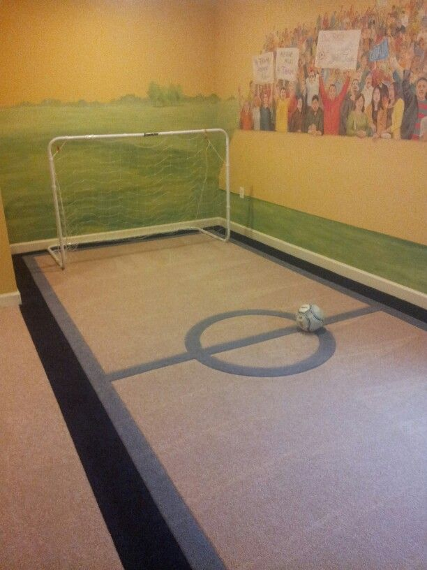 Carpeted Indoor Soccer Field Soccer Bedroom Soccer Room