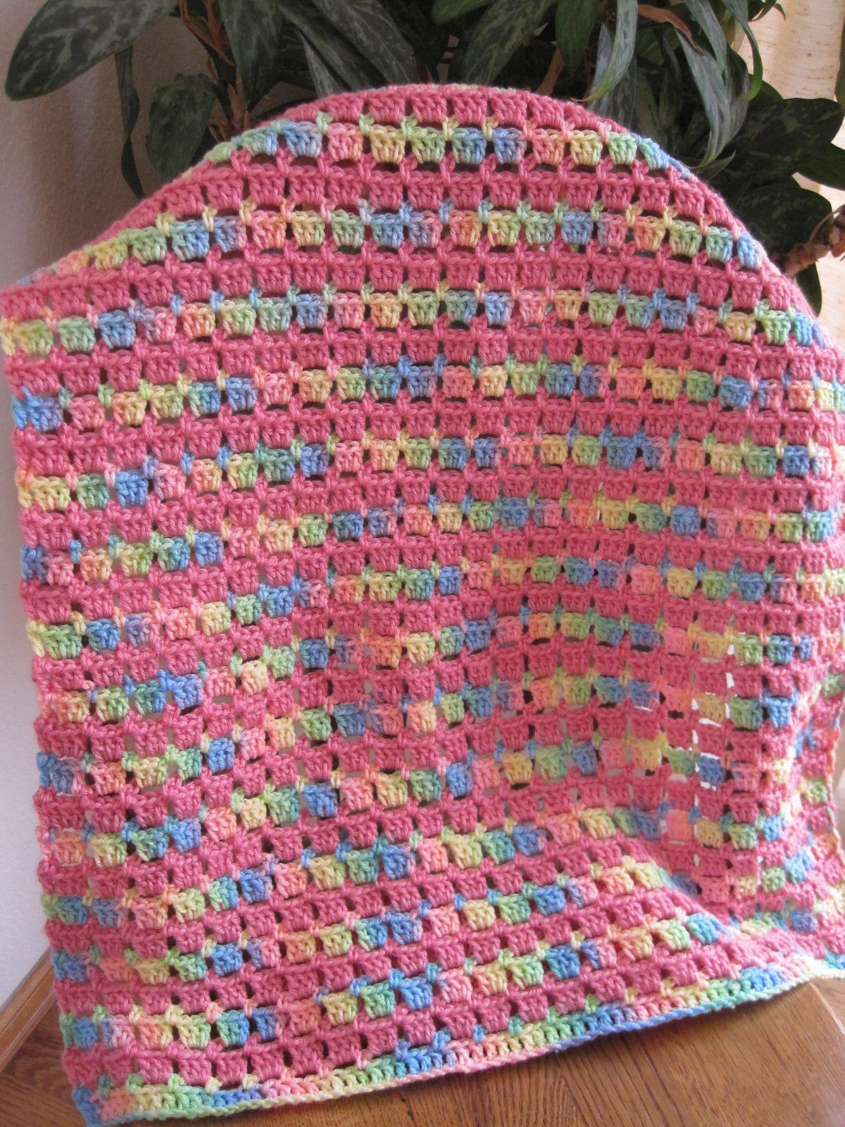 Block-Stitch Baby Blanket By Kathy North - Free Crochet Pattern ...