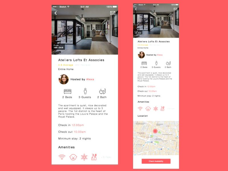 Airbnb Redesign Content Details Screen Design Inspiration Ui Ux