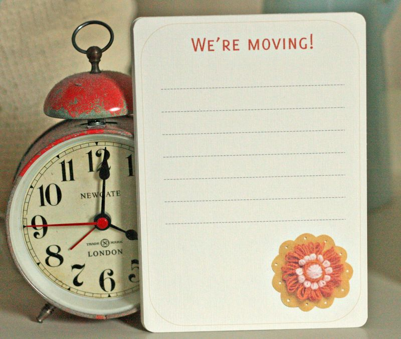 We're moving card