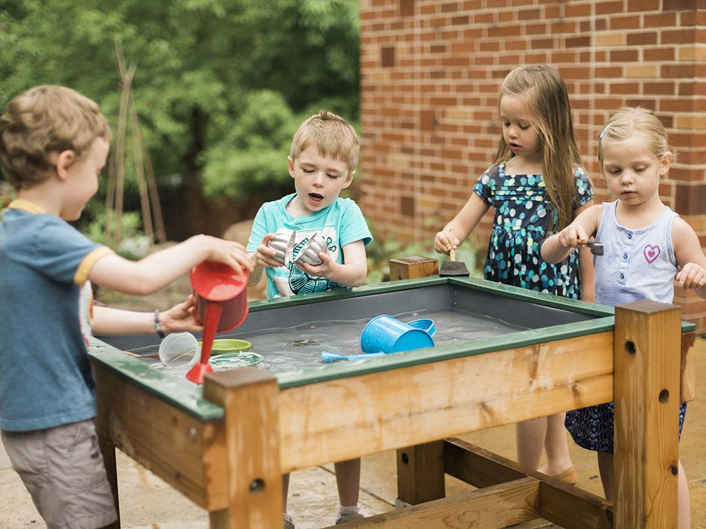 Add A Permanent Or Free Standing Wooden Water Table To Your Water Play Area!