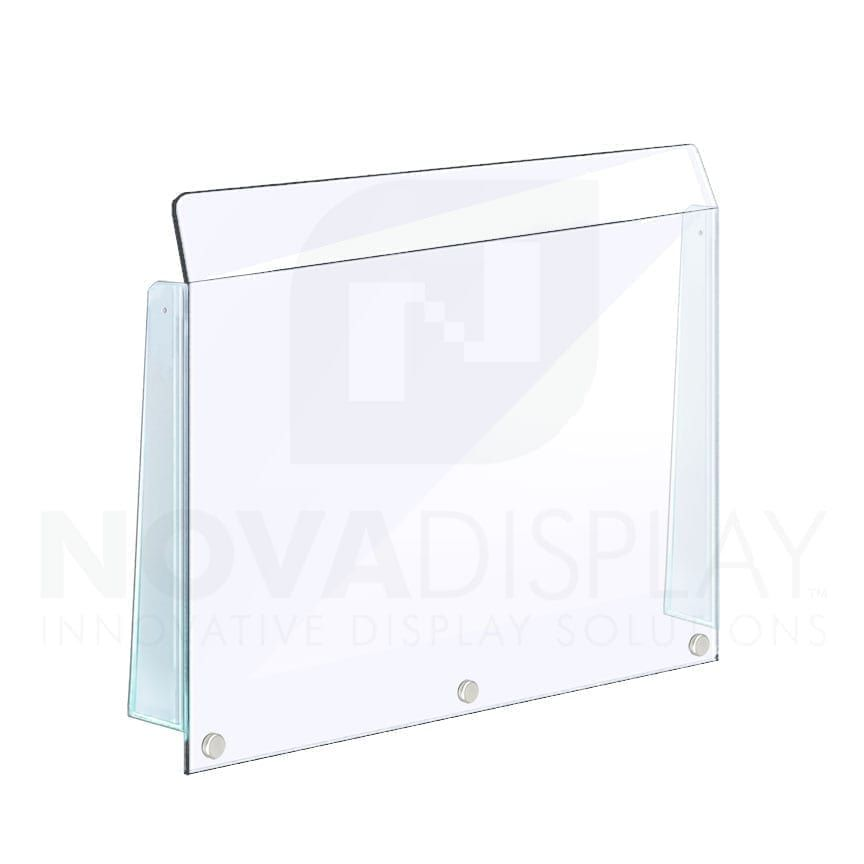 Countertop Acrylic Sneeze Guard Modular Mounted With Deco