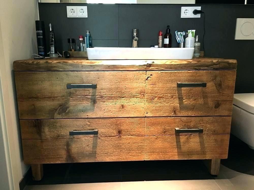 Waschbecken Unterschrank Holz Badezimmer Waschtisch Design Mit