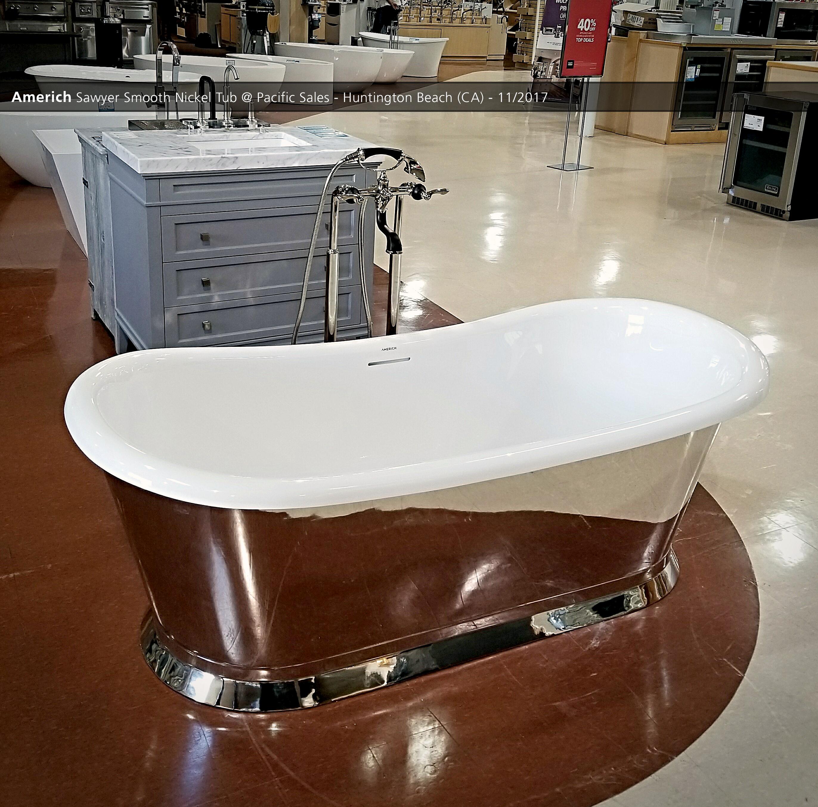 Americh Sawyer Smooth Nickel Tub @ Pacific Sales - Huntington Beach ...