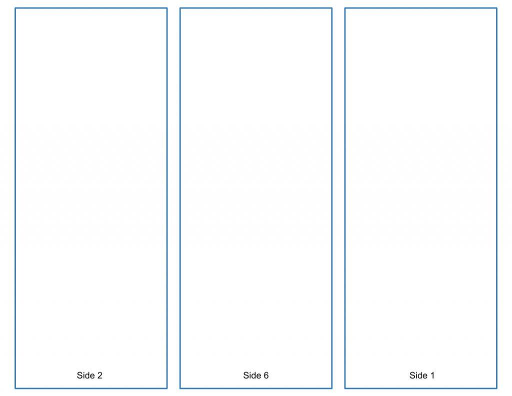 blank tri fold brochure template free