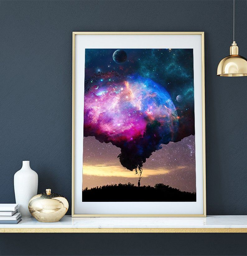 Space Stars Wallpaper Mural To View Further For This Item Visit The Image Link Wall Wallpaper Girls Bedroom Mural Photo Wallpaper