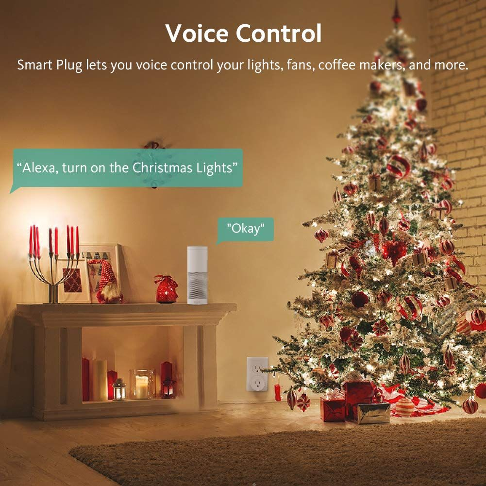 Smart Plug Wifi Outlet Zoozee Compatible With Alexa Echo Google Home And Ifttt No Hub Required Remote Control With Time In 2020 Smart Plug Christmas Lights Google Home